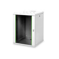 Digitus 16U wall mounting cabinet, Unique 820x600x600 mm, kleur grijs (RAL 7035) Stellingen/racks