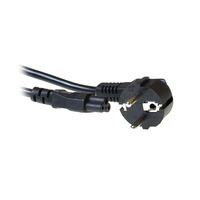 Ewent CEE 7/7 - IEC 60320 C5, M/F, 3m Cordon d'alimentation - Noir