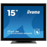 """Iiyama ProLite 15"""", TN LED, 1024 x 768, 370 cd/m², 700:1, VGA, DVI, VESA, 351 x 306.5 x 202 mm, 4.5 kg ....."""