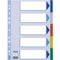 Esselte Multicoloured Polypropylene Dividers Intercalaire