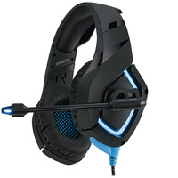 Adesso Stereo Gaming Headphone/Headset with Microphone Casque - Noir,Bleu