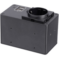 StarTech.com Power Outlet Module for Conference Table Connectivity Box - 1x AC Power and 2x USB-A - Power .....