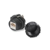 Digitus CAT 6 industrial keystone jack, IP67, shielded with dust cap - Zwart