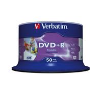 Verbatim DVD+R Wide Inkjet Printable No ID Brand (her)schrijfbare DVD
