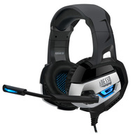 Adesso Stereo USB Gaming Headphone/Headset with Microphone Casque - Noir