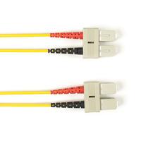 Black Box Câble de raccordement OM4 multimode coloré - LSZH Duplex Câble de fibre optique - Jaune