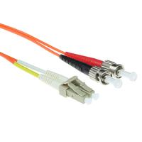 ACT 1m LSZHmultimode 62.5/125 OM1 glasvezel patchkabel duplexmet LC en ST connectoren Fiber optic kabel - Oranje