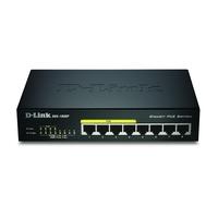 D-Link DGS-1008, 8-Port Gigabit Ethernet PoE, 16 Gbps, MDI/MDIX, Black Switch - Noir