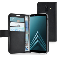 Azuri Walletcase - magnetic closure & 3 cardslots - zwart - Samsung A6 (2018)