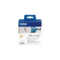 Brother CD-/DVD-labels film 58 x 58 mm Labelprinter tape - Blauw, Wit