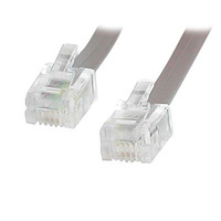 StarTech.com 25 ft. RJ11 Telephone/Modem Cable Câble de téléphone - Gris