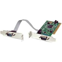 StarTech.com 2-poort PCI Low Profile RS232 Seriële Adapter-kaart met 16550 UART Interfaceadapter - Groen