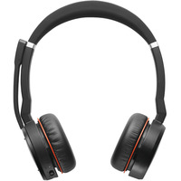 Jabra Evolve 75 MS Stereo Casque - Noir, Rouge