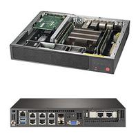 Supermicro SuperServer E300-9D-8CN8TP Barebone server - Zwart