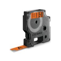DYMO D1 -Durable Labels - Black on Orange - 12mm x 3m Labelprinter tape