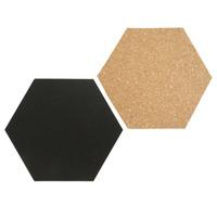 Securit FB-CB-HEX Prikbord - Zwart, Bruin