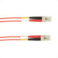 Black Box Câble de raccordement OM3 multimode coloré - LSZH Duplex Câble de fibre optique - Rouge