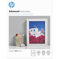 HP Advanced Photo Paper, glanzend, 25 vel, 13 x 18 cm randloos Fotopapier