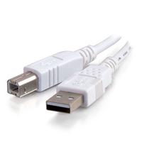 C2G 5m USB 2.0 A/B Cable Câble USB - Blanc