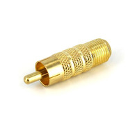 StarTech.com RCA to F Type Coaxial Adapter, M/F Coaxconnector - Geel