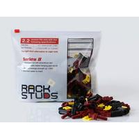 Minkels Set van 100stuks Rackstuds (rood) 19-inch rails met een dikte van max 2,2 mm Rack toebehoren