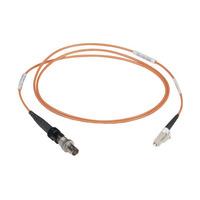 Black Box LC-ST, m-f, 1m Adaptateurs de fibres optiques - Noir,Orange