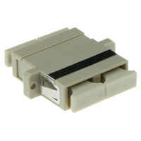 ACT Fiber optic adapter SC duplex multimode OM2 Glasvezel-adapters - Zwart, Grijs