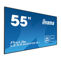 "Iiyama 54.6"", 3840 x 2160, 4K UHD, 16:9, 350 cd/m², 8 ms, AMVA3 LED, matte finish, VGA, DVI, HDMI, RS-232, ....."