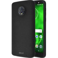 Azuri Flexible cover met zandtextuur - zwart - voor Motorola Moto G6 Plus