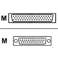 Cisco Smart Serial WIC2/T 26 Pin - RS530 D25 Male DTE Seriële kabel - Blauw