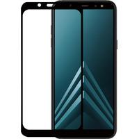 Azuri Tempered Glass flat RINOX ARMOR - zwart frame - Samsung A6 (2018) Schermbeschermer - Zwart, Transparant