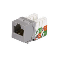Black Box GigaBase2 CAT5e Jack, Universal Wiring, Gray, Single-Pack - Grijs