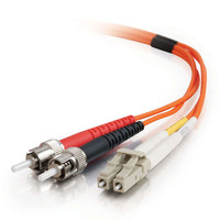 C2G 1m LC-ST 50/125 OM2 Duplex Multimode PVC Fibre Optic Cable (LSZH) - Orange Fiber optic kabel - Oranje