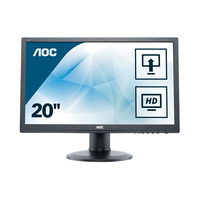 AOC 19.53 inch 1920x1080@60Hz 5 ms MVA VGA, DVI Monitor - Zwart