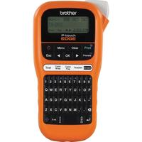 Brother LCD, 3.5/6/9/12 mm, HGe/TZe, , 180 dpi, 20 mm/sec - QWERTY Imprimante d'étiquette - Noir,Orange