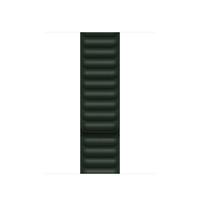 Apple Bracelet à maillons cuir vert séquoia 41 mm - S/M