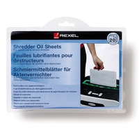 Rexel Shredder Oil Sheets (20) Papier-shredder accessoire