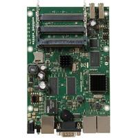 Mikrotik 680MHz CPU, 256MB RAM, 3x Gigabit Ethernet, 5x miniPCI, 2xUSB, RouterOS L5