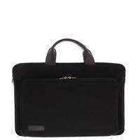 "BOND 17.3"" sleeve/tas met voorvak canvas zwart Laptoptas"