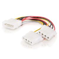 C2G Câble d'alimentation interne en Y un 5,25po vers deux 5,25po de 0,15M Cordon d'alimentation