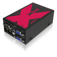 ADDER Link X50-MS2 Dual Head VGA KVMA 50M Extender with Transparent USB over Twin CATx Cable