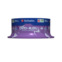 Verbatim DVD+R Double Layer 8x Matt Silver 25pk Spindle DVD vierge