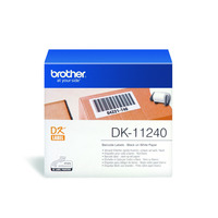 Brother DK Die-Cut label: 102 mm x 51 mm - Barcode label - wit (600 labels/rol) Etiket