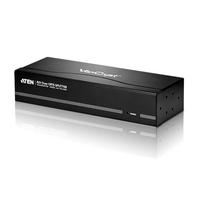 ATEN 8-poorts VGA/audio Cat 5-splitser Videosplitter - Zwart