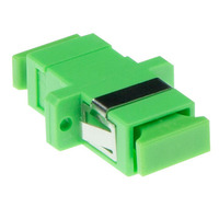 ACT Fiber optic SC-APC simplex adapter single-mode Glasvezel-adapters - Groen