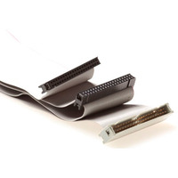 ACT IDC 40-pin male - 2x IDC-40 pin female Câble - Gris