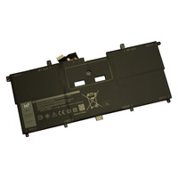 BTI 5940mAh, 45WH, 7.6 V, Li-ion, f/ DELL XPS 9365 Laptop reserve onderdelen - Zwart
