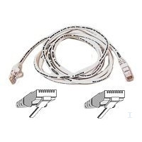 Belkin High Performance - Patch cable 5m UTP ( CAT 6 ) - white Netwerkkabel - Wit