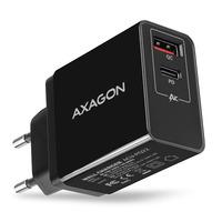 Axagon ACU-PQ22 QC3.0 + USB-C PD WALL CHARGER Chargeur - Noir