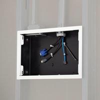 Chief In-Wall Storage Box with Flange Boîtes de jonction électrique - Blanc